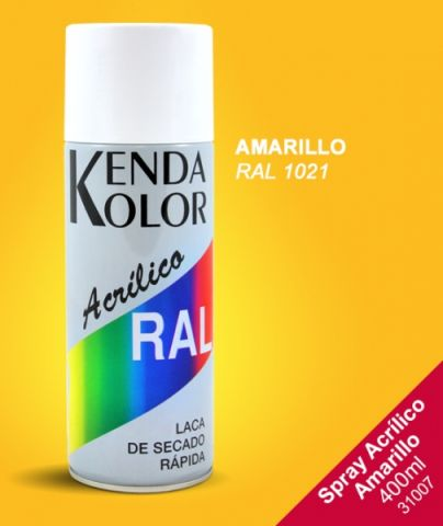 SPRAY KENDA AMARILLO RAL 1021 400ML