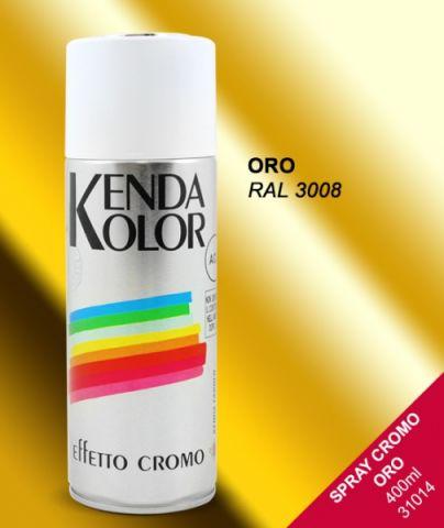 SPRAY KENDA CROMO ORO 400 ML