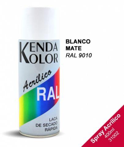 SPRAY KENDA BLANCO MATE 400ML