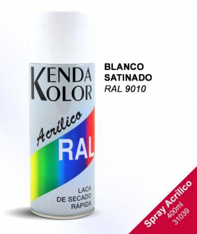SPRAY KENDA BLANCO SATINADO RAL 9010S 400ML
