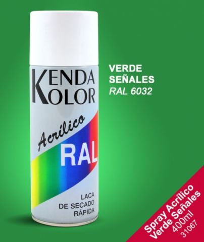 SPRAY KENDA VERDE SEÑAL  RAL 6032 400ML
