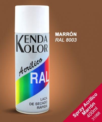 SPRAY KENDA  MARRON RAL 8003 400ML