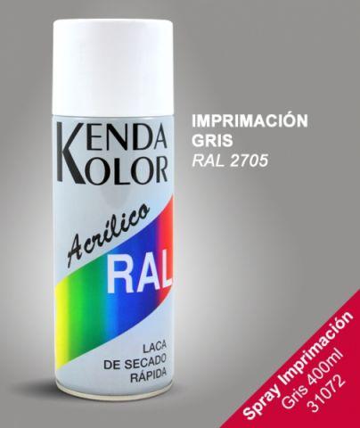 SPRAY KENDA IMPRIMACION GRIS RAL 2705 400ML